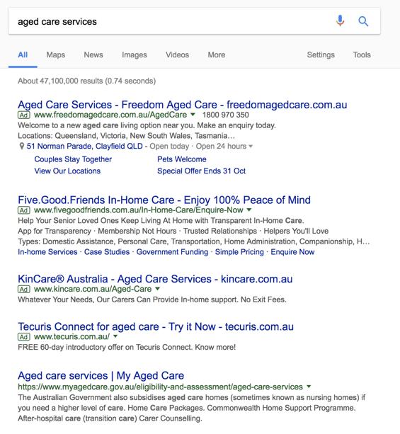 Aged Care Google
