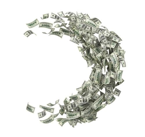 dollars spiraling